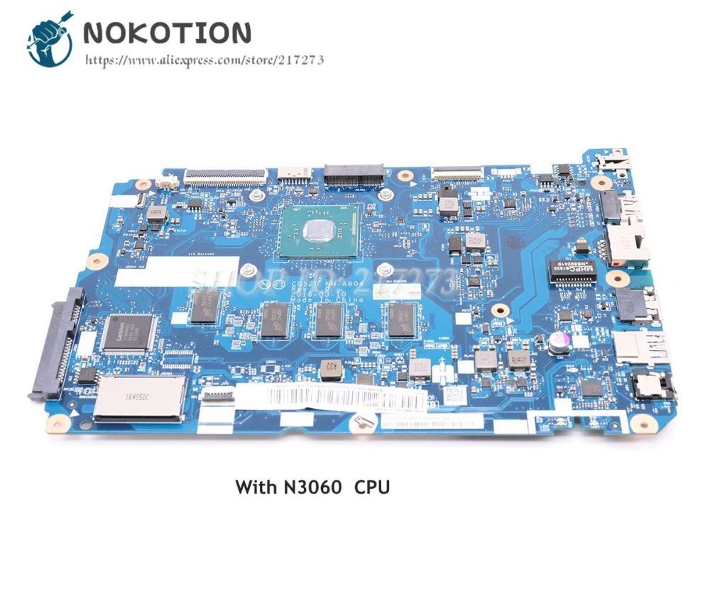 NOKOTION 5B20L77440 CG520 NM-A804 MAIN BOARD For Lenovo ideapad 110-15IBR Laptop Motherboard SR2KN N3060 CPU kefu 5b20l77440 nm a804 for lenovo ideapad 110 15ibr laptop motherboard n3060 tested