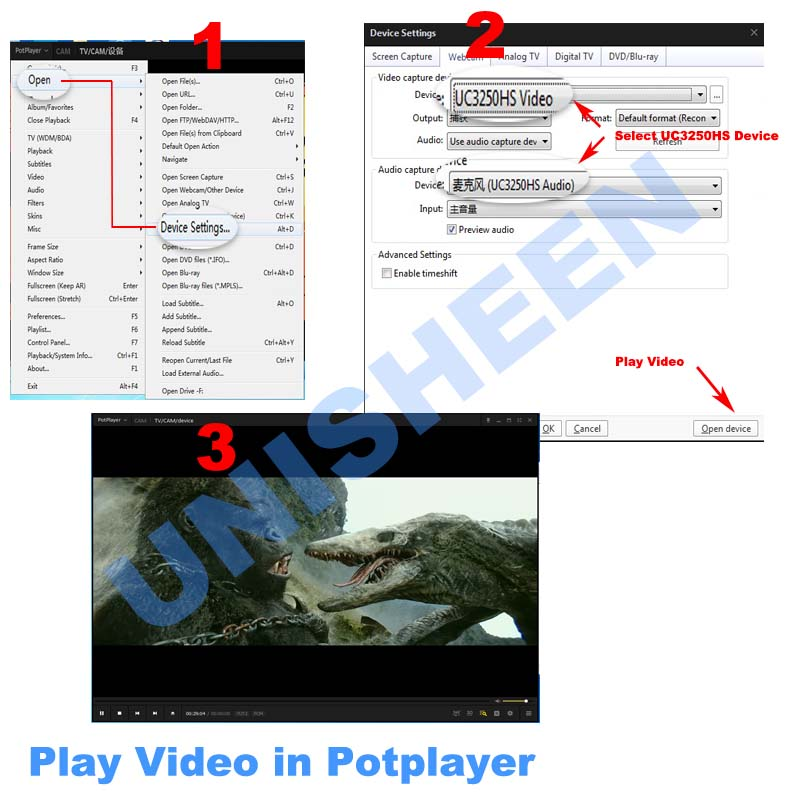 play video in potplayer