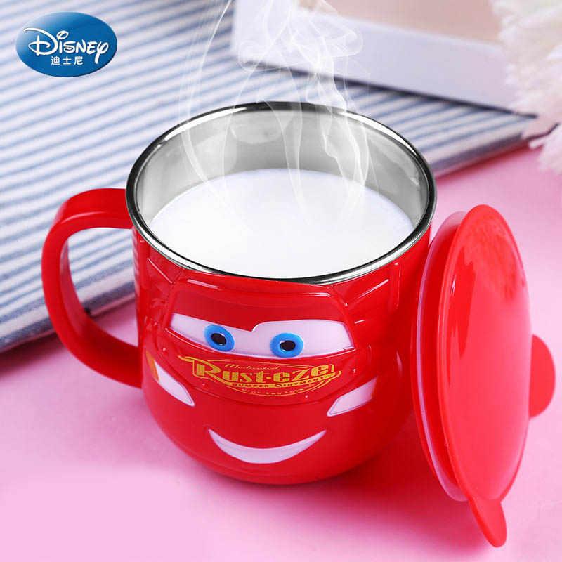 Disney 300 мл Детская кружка из нержавеющей стали для молока 2019 Детские Прочные дети питание молоко чашка Микки Минни домашняя школьная кружка с крышкой