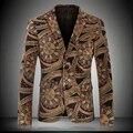 England Style New Mens Formal Groom Wedding Suit Jacket Man Gold Velvet Slim Fit Tuxedo Dress Suits Plus Size M- 4XL K15335
