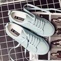 Envío gratis 2017 primavera nuevas mujeres de la manera zapatos ocasionales del deporte transpirable PU zapatos blancos zapatos de las mujeres ocasionales para las mujeres