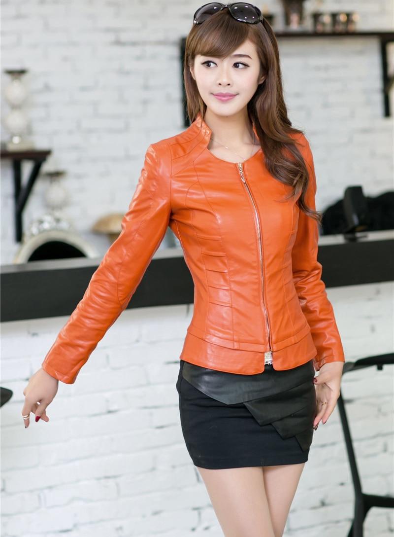 Leather jacket xl size - Plus Size 4xl Women Leather Clothing 2016 Spring And Autumn Female Slim Women S Coats Turn