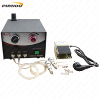 Pneumatic Engraving Machine Graver Helper Jewelry Engraver Mate Double Ended 2 Hand Pieces 220/110V