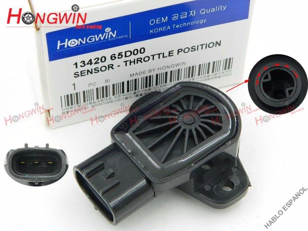 Oryginalny nr: 1342065D00 czujnik położenia przepustnicy pasuje do Suzuki XL-7 grand vitara chevrolet tracker 1.6 2.0 2.7, 13420 65D00, 5S5075