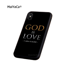 god is love christian bible soft silicone edge cellphone cases for apple iPhone x 5s SE 6 6s plus 7 7plus 8 8plus XR XS MAX case