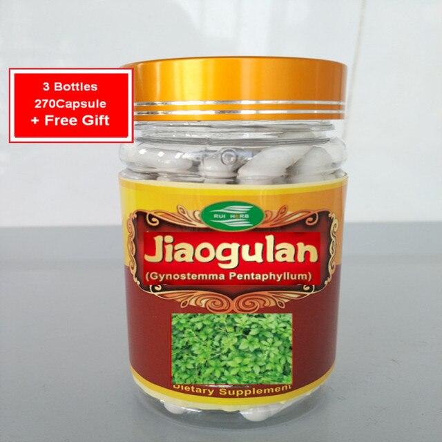 3 Бутылки Jiaogulan (Gynostemma) Экстракт Капсулы 500 мг х 270 шт. бесплатная доставка
