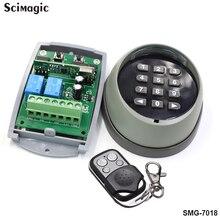 Беспроводной кнопочный переключатель с паролем 433 МГц пульт дистанционного управления и 433 приемник для гаражных ворот 433 МГц высокое качество