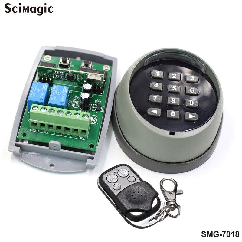 433.92 mhz kit Interruptor 2CH Senha Do Teclado Remoto Sem Fio  para a porta do portão 433 MHz controle de acesso da porta da garagem  porta universal abridor de garrafasTeclados de controle de acesso   -