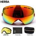 Nouveau HERBA marque lunettes de ski double UV400 anti buée grand masque de ski lunettes ski hommes femmes neige snowboard lunettes HB3 3