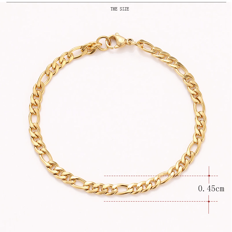 CACANA Stainless Steel Chain Bracelets For Man Women Gold Silver Color For Pendant Flat Donot Fade Jewelry N1806