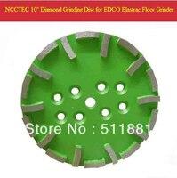 10'' Blastrac Green Diamond Grind Disc for EDCO Blastrac grinder | 250mm meidum grade plate for universal floor | 20 segments