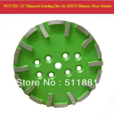 10 '' Blastrac vert diamant Grind Disc pour EDCO Blastrac meuleuse | 250 mm meidum qualité plaque pour universal étage | 20 segments
