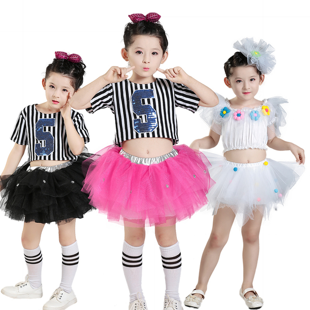 cf3532d71 modern jazz dance costume girl sequin top salsa skirts hip hop dance ...