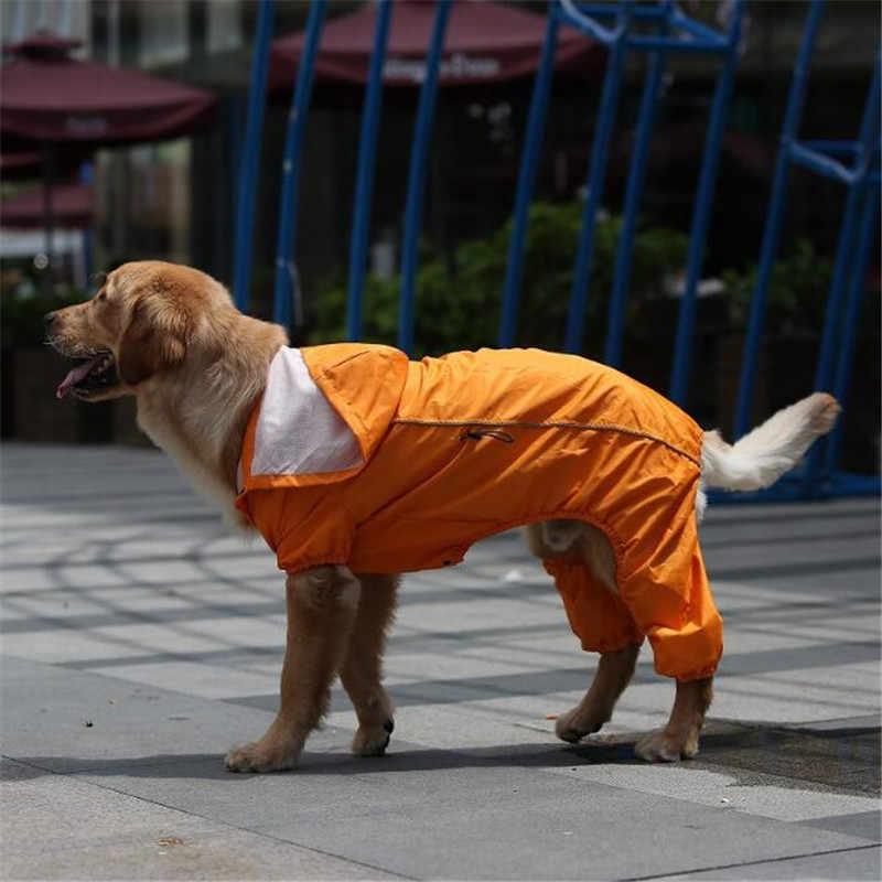 Thú cưng Chó Lớn Bộ Áo Đi Mưa Cho Labrador Hưu Vàng Cho Chó Lớn Chống Nước Jumpsuit Áo Mưa Áo Thú Cưng Quần Áo Áo Mưa