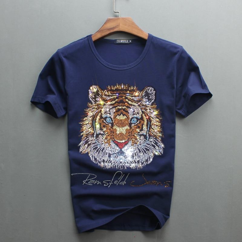 Partihandel Hot Sale Sale O-Neck Men Luxury Diamond Design Tshirt - Herrkläder - Foto 2