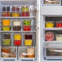 50Pcs/Set 500ML Food Grade Disposable Kitchen Food Storage Box Salad Sauce FruiteTake-out Packaging Boxes