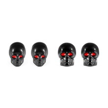 DSYCAR 4Pcs/lot Universal Skull Car Moto Bike Tire Wheel Valve Cap Dust cover Car Styling for Fiat Audi Ford Bmw toyota Honda VW