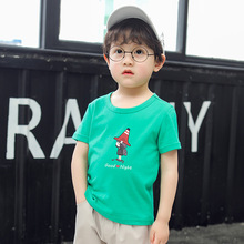 Kids clothes girls 8 to 12 summer cartoon print short-sleeved shirt cotton comfortable child