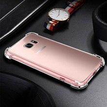 Купить с кэшбэком Anti Knock Transparent Case For Samsung Galaxy S8 S9 Plus ON7 2016 C8 J7 A3 A7 2017 A5 2018 A8 Star TPU Protection Cover Capa