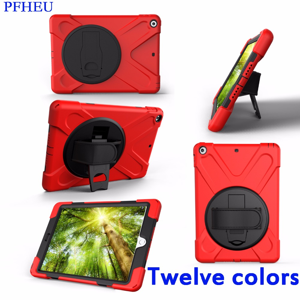 Case For New iPad 9.7 2017 2018 Model A1822 A1823 A1893 Cover Kids Safe Shockproof Heavy Duty Silicone Hard Cover kickstand armor heavy duty case for apple new ipad 9 7 2017 a1822 cover funda tablet kids safe shockproof silicone hard stand hand shell
