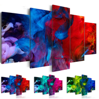 5d diy diamond painting Cross Stitch 5pcs square drill red abstract flower full diamond embroidery Christmas decoration ZP 1297