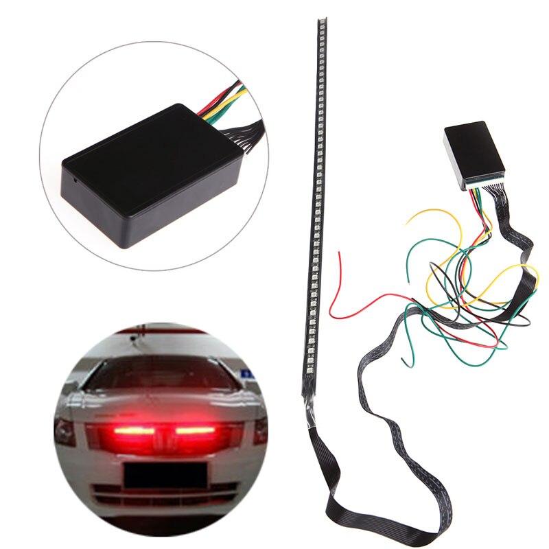 48 SMD 5050 LED RGB Scanner Flash Car Strobe Remote Knight Rider Light Strip New Drop Shipping