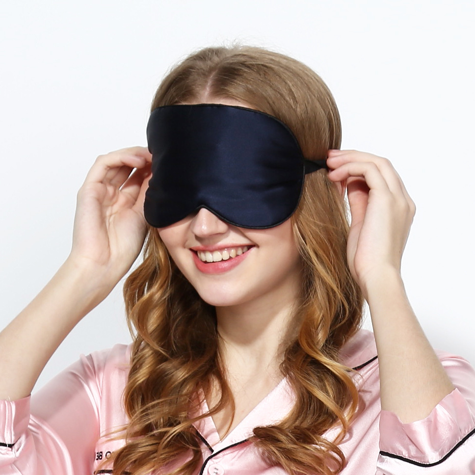 Pure Silk EyeShade Sleeping Eye Mask and Soft, smooth and comfortable Women Men Soft Portable Blindfold Travel Eyepatch