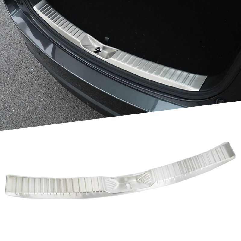 цена на Stainless Steel Rear Bumper Protector Sill Trunk Tread Plate Trim For Mazda CX-5 CX5 2017 2018 Sill Plate Protector Guard Cover