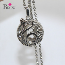 Wholesale 10pcs Branch Hollow Locket Big Aromatherapy Magic Box Pendant Chain Necklace Essential Oil Diffuser Jewelry