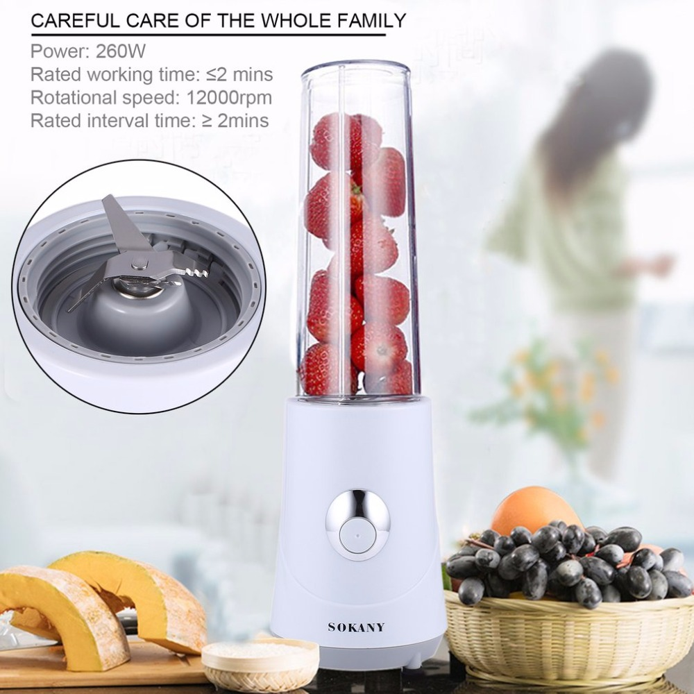 Multifunctional Electric Smoothie Maker 260W High Performance Juicer With Cup Cover As Travel Bottle SKY-709A Juice Maker new electric juice juicer blender kitchen mixer drink bottle smoothie maker fruit