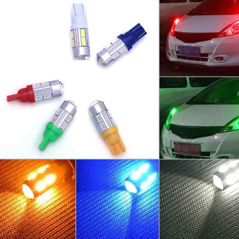 Ultra Bright T10-10(5630) Auto Car LED Bulb light DC 12V Clearance Lights Parking Interior License Plate Lamp DRL