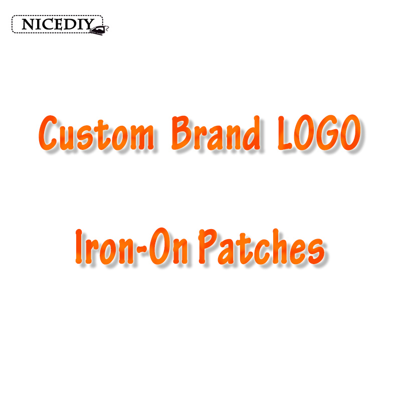 Nicediy Custom Brand LOGO Patches Heat Transfer Vinyl Sticker Thermal Iron On Transfers For Clothing Stripe Applique On Clothes