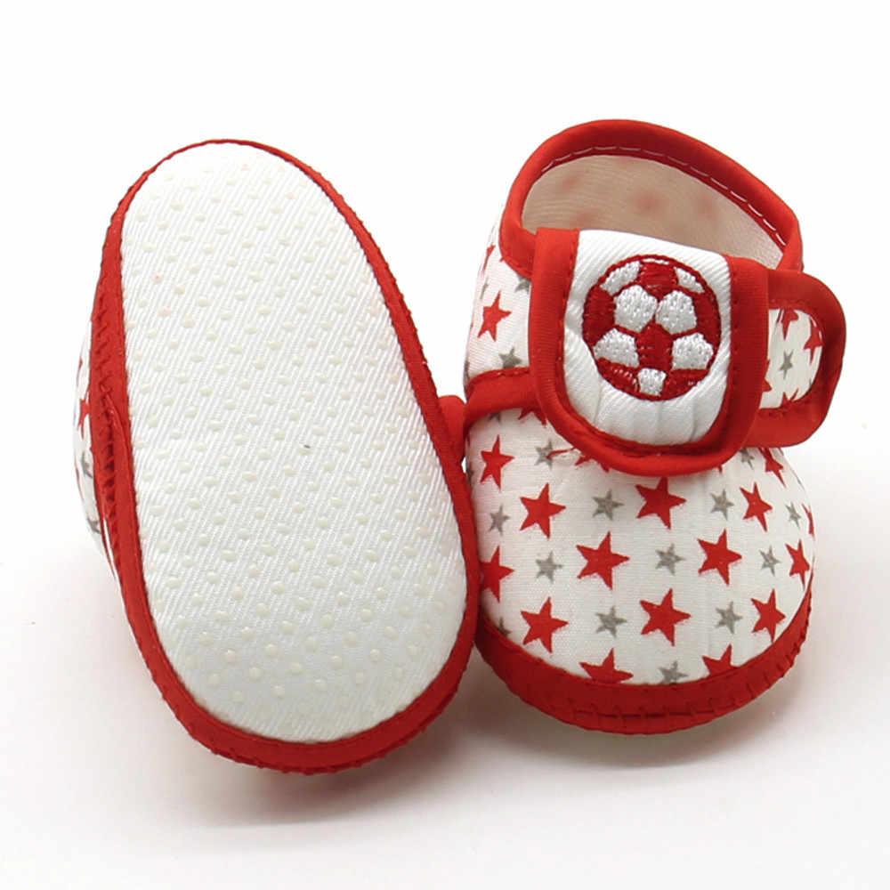 Bebé Zapatos bebé recién nacido de moda encantadora estrella niñas suela blanda cómoda Prewalker caliente zapatos planos ocasionales zapatos туфли детские