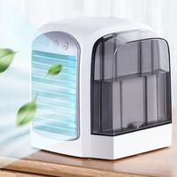 USB Air Cooler Mini Portable Silent Air Conditioner Fan Water Cooling Fan Noiseless Evaporative Air Humidifier for Room Office D