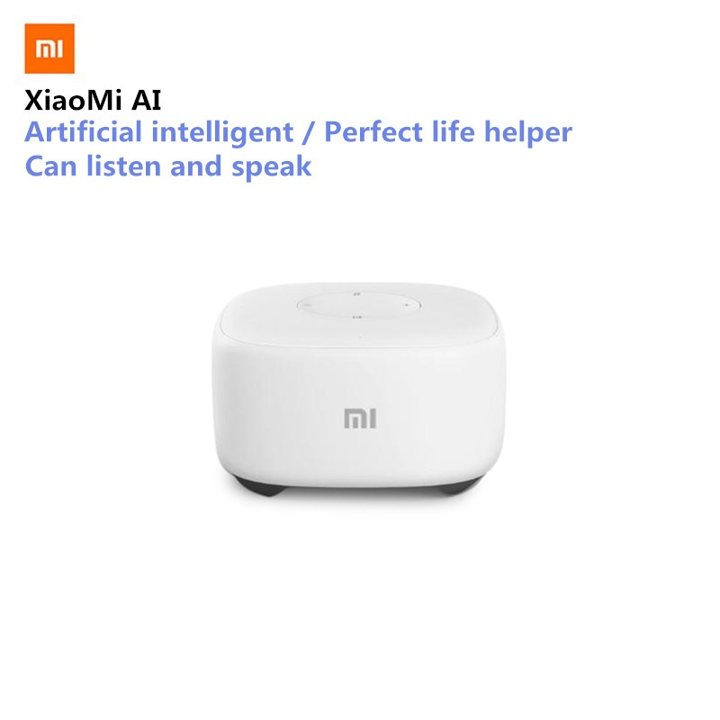 Original Xiaomi Speaker XiaoMi Al Mini Speaker Voice Control Smart Wireless Speaker Bluetooth Radio Player WiFi Story Teller original xiaomi mi speaker mini 2 4g wifi voice smart speaker wireless portable speaker bluetooth 4 1 with 4 mic of smart home
