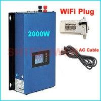 Inverter with wifi plug DC 48v 72v input MPPT Solar grid tie invertor 2000w battery discharge mode 50Hz/60Hz