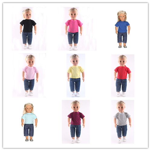8 new style High quality popular clothes Wear fit American Girl Doll For 18 inch Children best Gift (without shoes)N211-N219 2016 new style popular 18 inch american girl doll christmas clothes dress for christmas gift abd 04