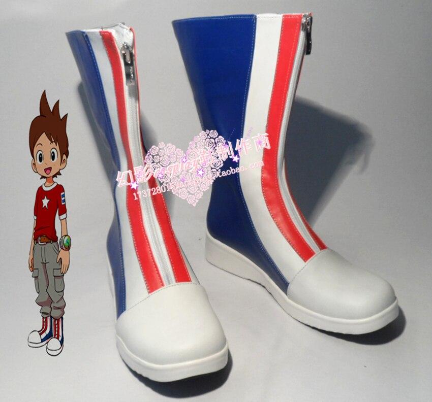Youkai Orologio Amano Keita lin Cosplay Scarpe stivali nuova versione # JZ143 fatto a mano su misura
