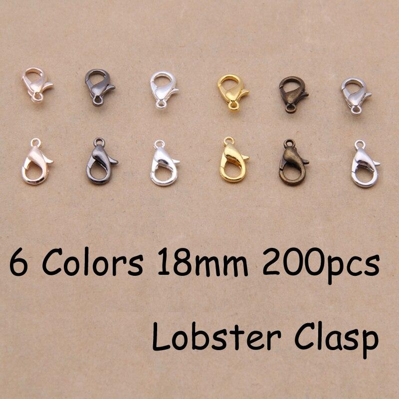 Yage 18 MM 200 unids 6 colores aleación de Zinc bisutería. bronce, rodio, oro ro