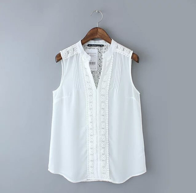 Online Get Cheap Sleeveless White Blouse -Aliexpress.com | Alibaba ...