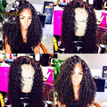 Kinky Curly Brazilian Full Lace Full Lace Human Hair Wigs For Black Women Afro Curly Lace Front  Wigs With Baby Hair Frontal Wig