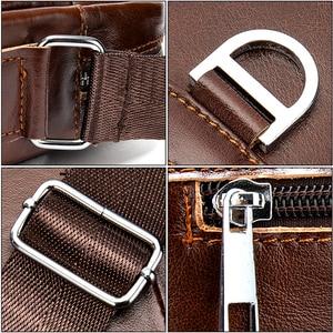 Image 5 - WESTAl mens shoulder bag genuine leather crossbody bag for men vintage messengr bag male flap zipper high quality handbags 8513