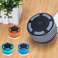 IPX7 Portable Wireless Bluetooth LED waterproof Speakers with Radio Shower Speaker Loudspeaker Suction Cup For bathroom beach