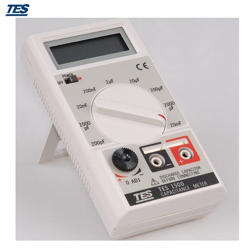 TES-1500 Portable Digital Capacitance Meter 20mF 20000uF