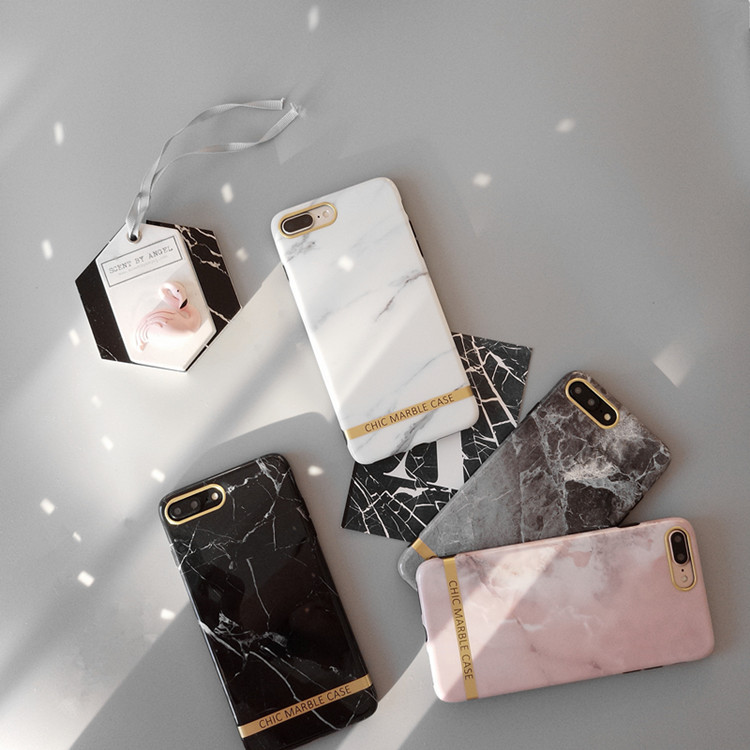 Luxury Glossy marble Korean Phone Case For iPhone 7 7 Puls 6 6S 7 8 Puls X XS Cases Fashion Candy Color Soft Silicone Back Cover