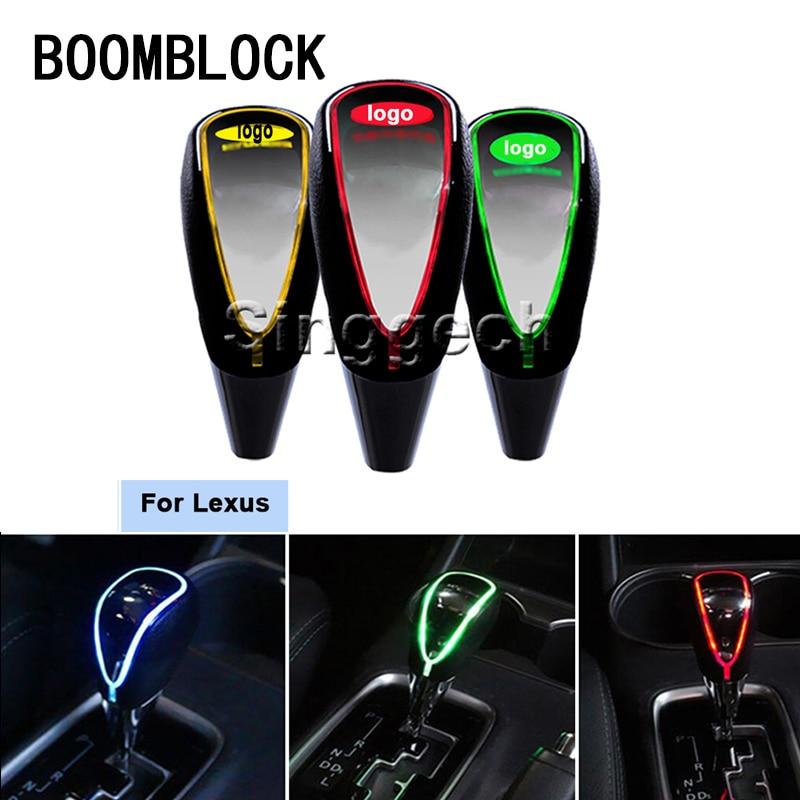 BOOMBLOCK Auto Gear Shift Knob Touch Sensor Colourful LED Light  5/6 Speed For Lexus RX NX GS CT200H GS300 RX350 RX300 AllBOOMBLOCK Auto Gear Shift Knob Touch Sensor Colourful LED Light  5/6 Speed For Lexus RX NX GS CT200H GS300 RX350 RX300 All