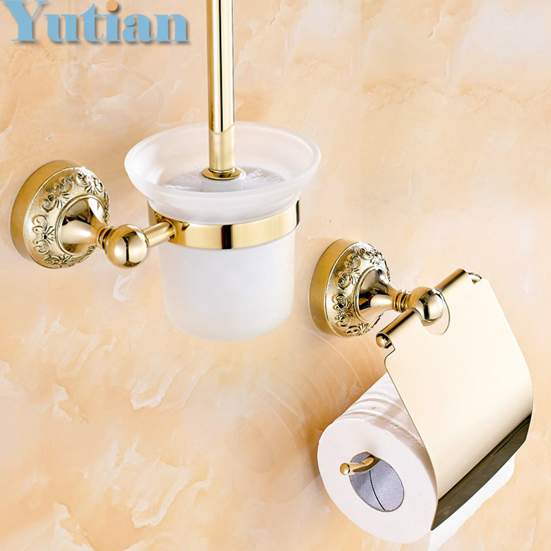 Free shipping bathroom accessories set paper holder for Coloured bathroom accessories set