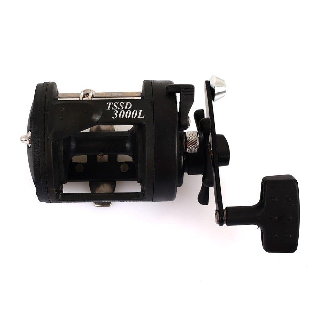 Black Plastic Trolling Reel Fishing Rod Sea Drum Wheel Boat Fishing Reel Durable Rock Fishing Dripping Wheel Portable
