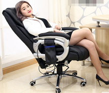 Stylish home computer chair lift swivel chair boss chair leather massage recliner child can стоимость