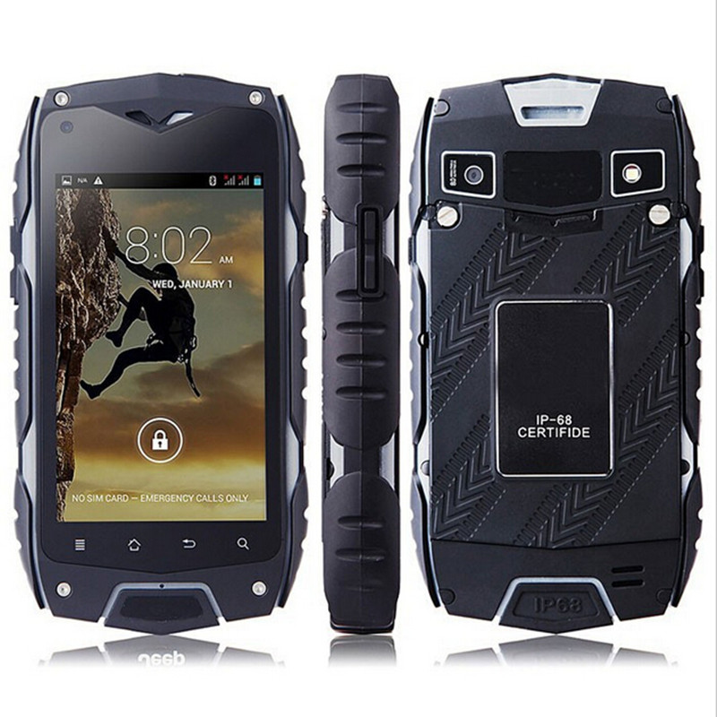 "New Original Jeep Z6 4.0"" MTK6572 Dual Core 512MB RAM IP68 Waterproof Phone 3G GPS Dual Sim 5MP Rugged Phone PK Hummer H5"